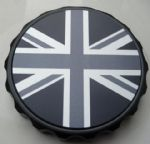 "Bonneville Thruxton T100 & Scrambler. Petrol/Gas Cap: Black GRIP Type. ""Union Flag Mono"""